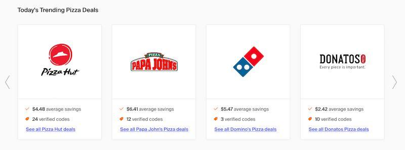 Average Pizza Coupon Savings