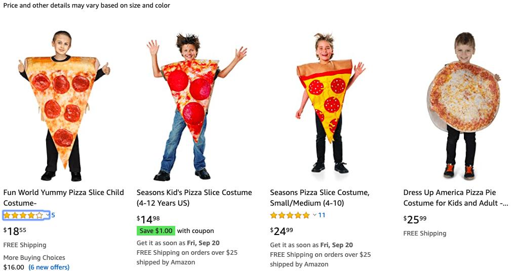 Adult Comedy Pepperoni Pizza Mushroom Slice New Fancy Dress Food Costume Tabard