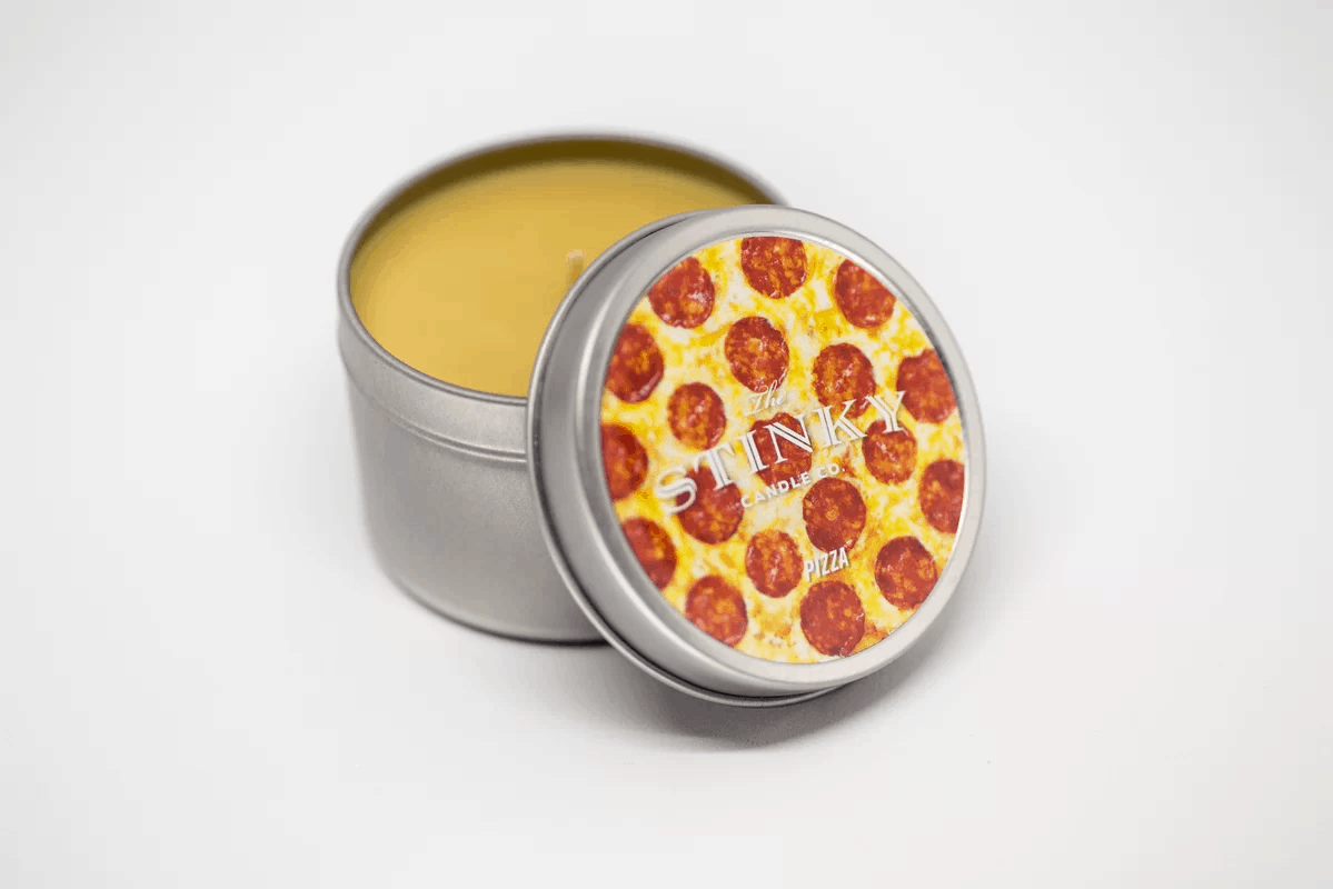 Pizza-scented candles