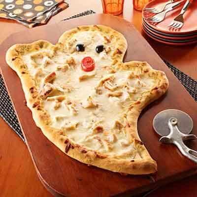 garlicky ghost pizza
